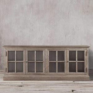 Sideboard French 4Door Wide, 180W x 45D x 80H cm