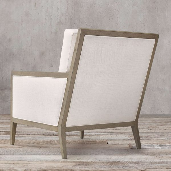 Slipe Square French Teak Chair, 72W x 90D x 92H cm