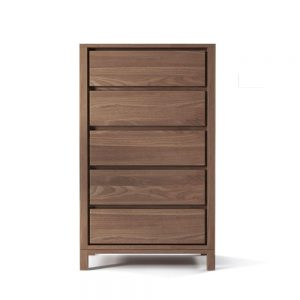 Solid Teak Chest 5 Drawer, 75W x 50D x 120 H cm