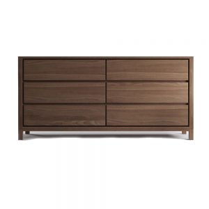 Solid Teak Wide Chest 6 Drawer 160W x 45D x 80H cm