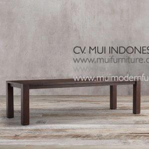 Square Leg Rectangular Teak Table, 220W x 100D x 75H cm