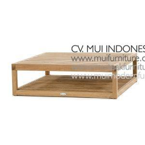 Square Teak Coffee Table, 90W x 90D x 38H cm