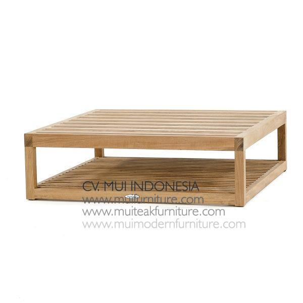 Square Teak Coffee Table, 90W x 90D x 38H cm