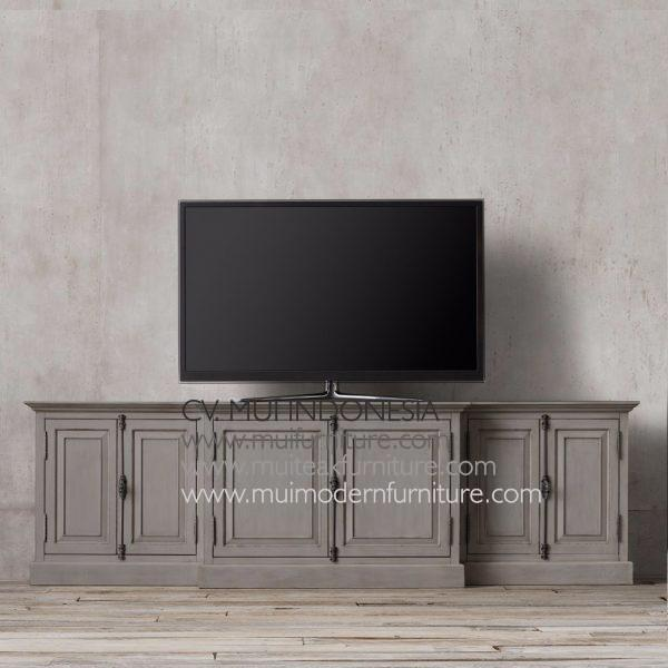 Teak Panel French Sideboard-grey