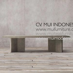 Triangle Dining Table Teak, 200W x 100D x 75H cm