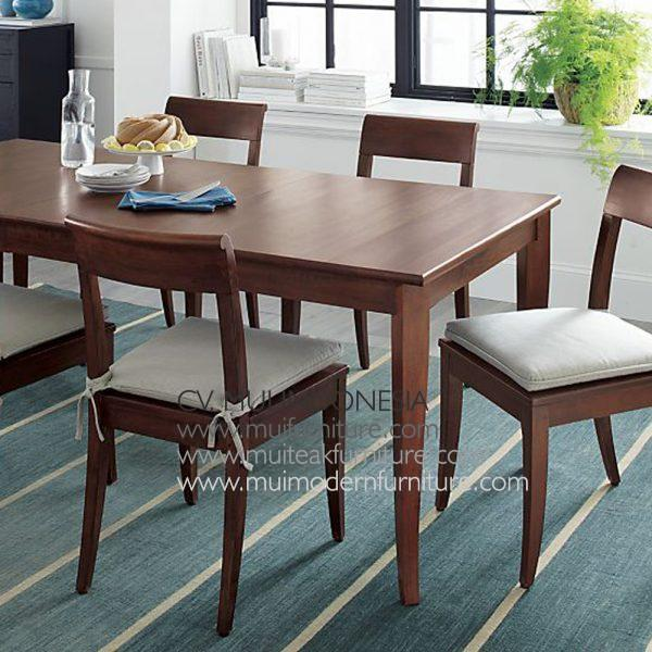 Venice Rectangular Teak Dining Table, 180W x 90D x 75H cm