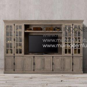 Wide French Tv Cabinet, 220W x 55D x 220H cm