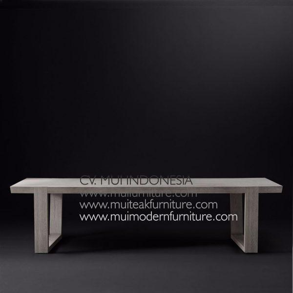 Wina Rectangular Teak Table, 200W X 100D x 75H cm