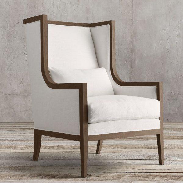 Wing Arm Chair Teak, 72W x 80D x 110H cm