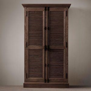kare Buffet 2 Door Teak-Dark Brown, 90W x 50D X 210H cm