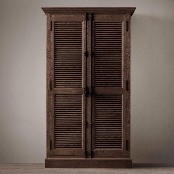 kare Buffet 2 Door Teak-Dark Brown, 90W x 50D X 210H cm